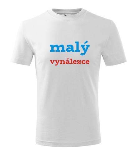 Dětské tričko malý vynálezce - Vtipná dětská trička