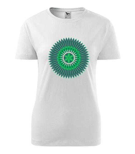 Dámské tričko s mandalou 10 - Dárek pro jogínku
