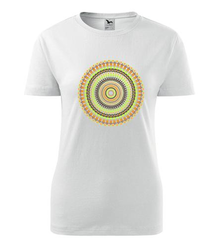 Dámské tričko s mandalou 12 - Dárek pro jogínku