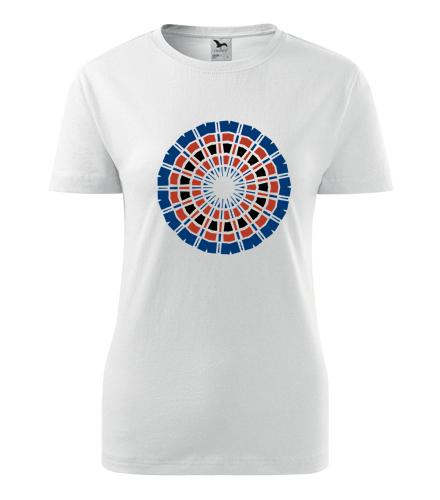 Dámské tričko s mandalou 13 - Dárek pro jogínku