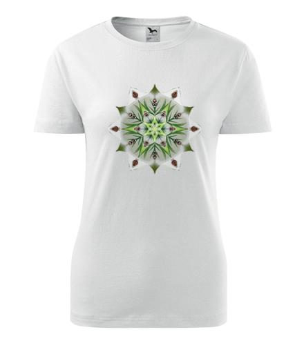 Dámské tričko s mandalou 14 - Dárek pro jogínku