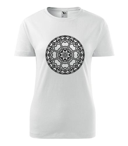 Dámské tričko s mandalou 15 - Dárek pro jogínku