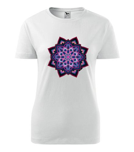 Dámské tričko s mandalou 16 - Dárek pro jogínku