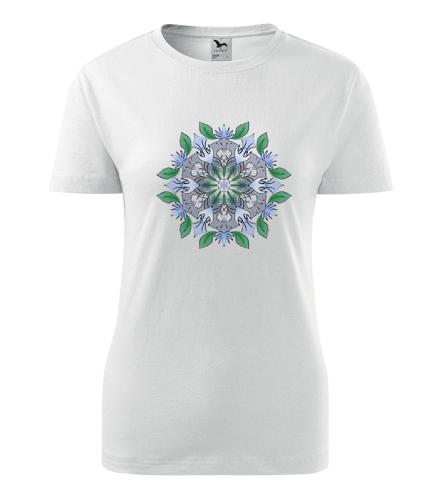 Dámské tričko s mandalou 17 - Dárek pro jogínku