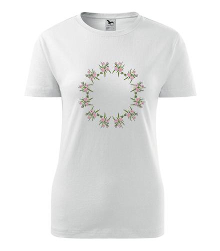 Dámské tričko s mandalou 18 - Dárek pro jogínku