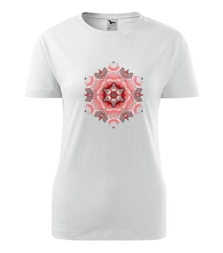 Dámské tričko s mandalou 19 - Dárek pro jogínku