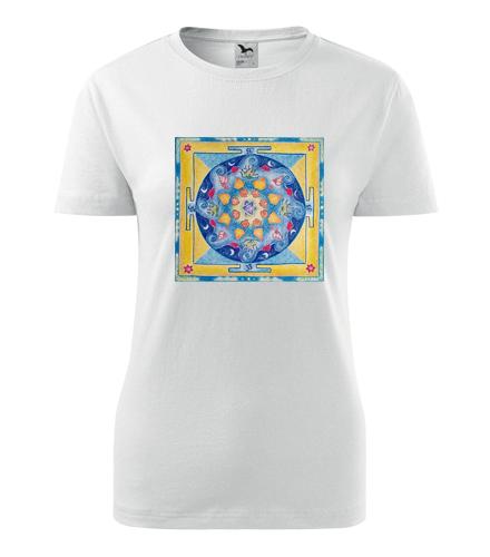 Tričko s mandalou 2 dámské - Dárek pro jogína