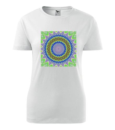 Dámské tričko s mandalou 3 - Dárek pro jogínku