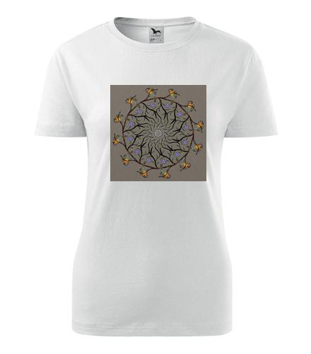 Dámské tričko s mandalou 4 - Dárek pro jogínku