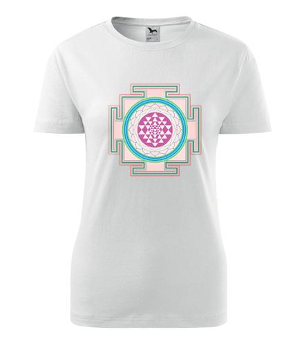 Dámské tričko s mandalou 5 - Dárek pro jogínku