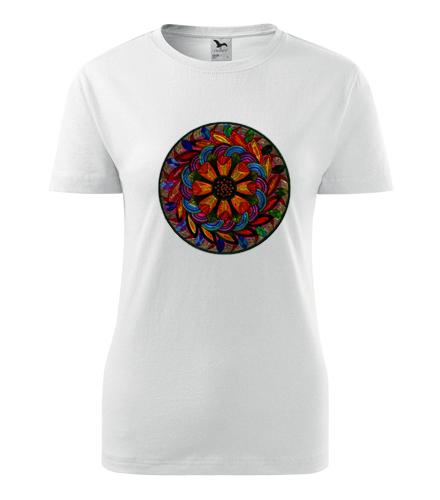 Dámské tričko s mandalou 6 - Dárek pro jogínku