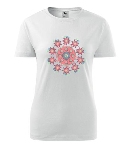 Dámské tričko s mandalou 7 - Dárek pro jogínku