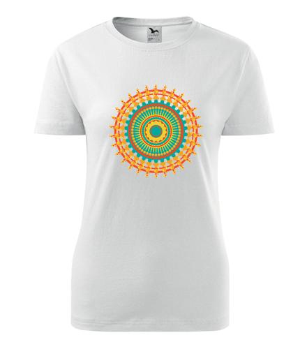 Dámské tričko s mandalou 8 - Dárek pro jogínku