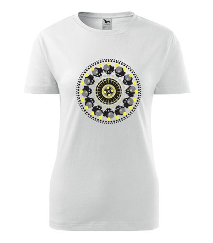 Dámské tričko s mandalou 9 - Dárek pro jogínku