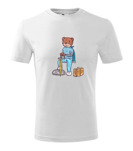 Dětské tričko medvídek cestovatel - Dětská narozeninová trička
