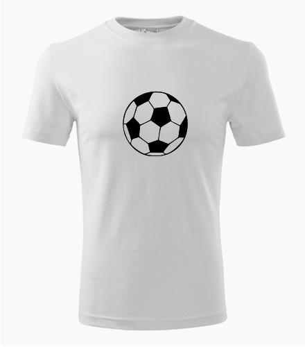 Tričko s fotbalovým míčem - Dárek pro fanouška fotbalu