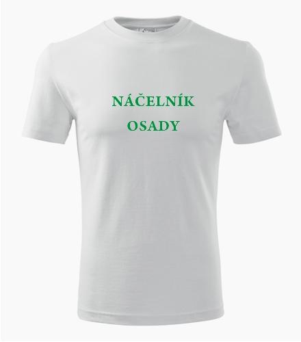 Tričko náčelník osady - Dárek pro trampa