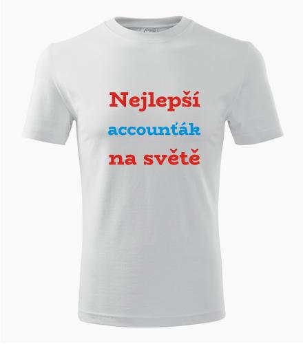 Tričko nejlepší accounťák na světě - Dárek pro manažera