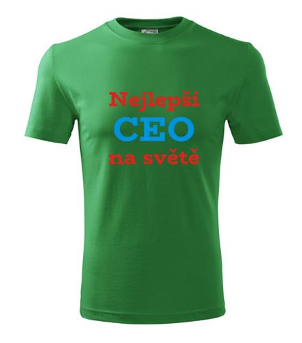 vánoční dárky pro šéfa Tričko nejlepší CEO na světě střední zelená