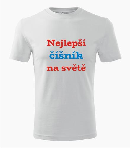 Tričko nejlepší číšník na světě - Dárek pro číšníka