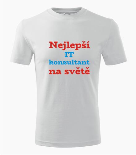 Tričko nejlepší IT konzultant na světě - Dárek pro IT analytika