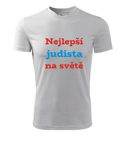 Tričko nejlepší judista na světě - Dárky pro sportovce
