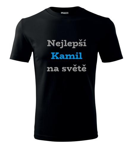 Tričko nejlepší Kamil na světě - Trička se jménem pánská