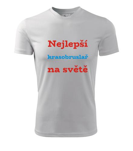 Tričko nejlepší krasobruslař na světě - Dárky pro sportovce