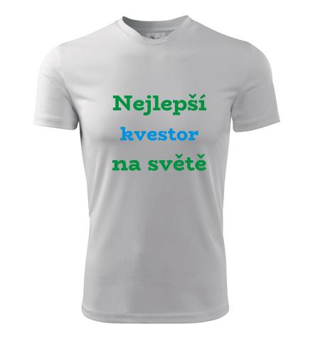 Tričko nejlepší kvestor na světě