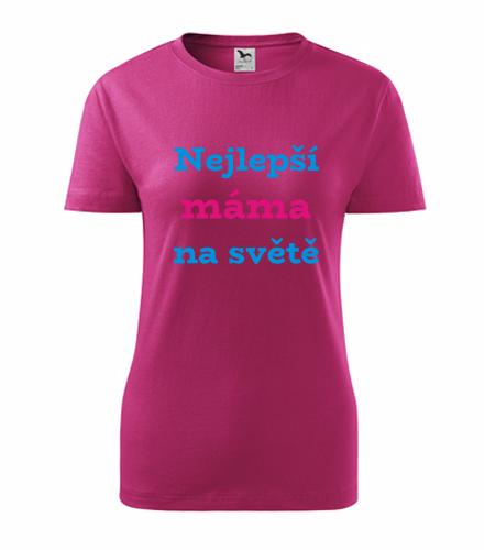 Vtipné dárky pro ženy k narozeninám Tričko nejlepší máma na světě purpurová