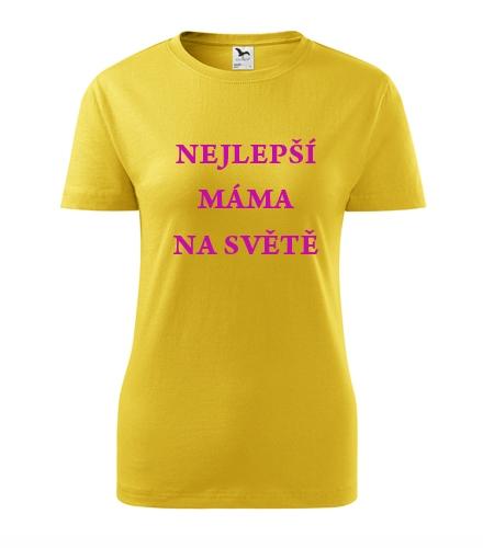 Darek k narozeninám pro ženu Tričko nejlepší máma na světě žlutá