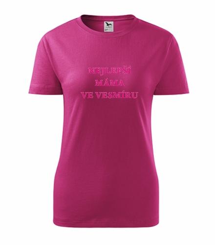 Dárky pro ženy k narozeninám Tričko nejlepší máma ve vesmíru purpurová