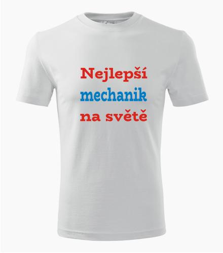 Tričko nejlepší mechanik na světě - Dárek pro řemeslníka