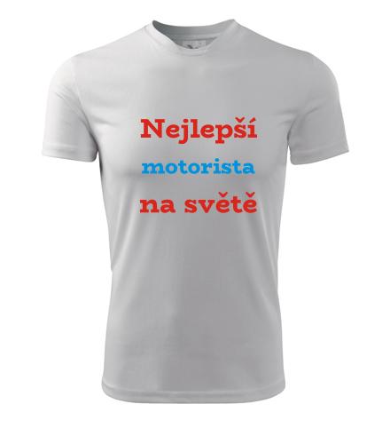 Tričko nejlepší motorista na světě - Dárky pro sportovce