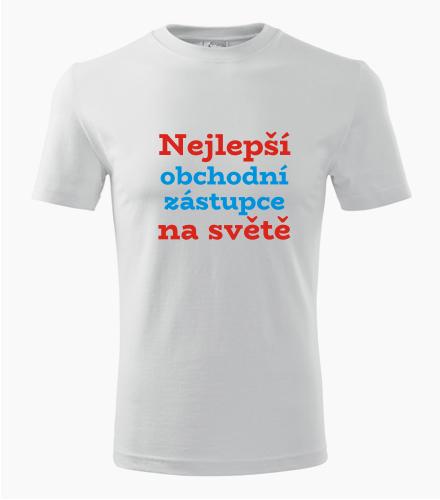 Tričko nejlepší obchodní zástupce na světě - Dárek pro obchodního zástupce