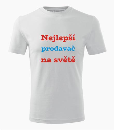 Tričko nejlepší prodavač na světě - Dárek pro prodavače