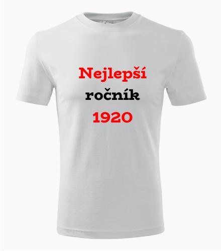 Narozeninové tričko Nejlepší ročník 1920
