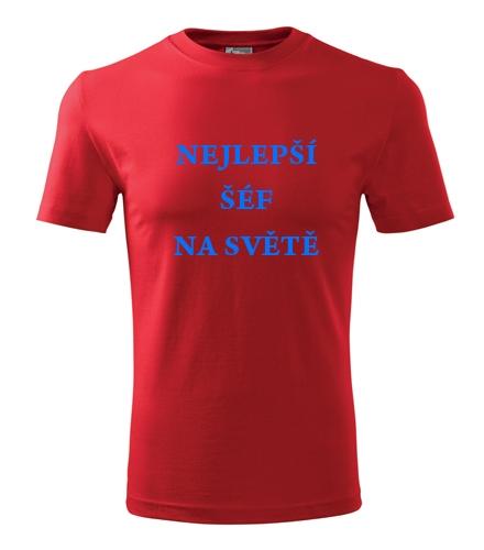 vánoční dárek pro šéfa Tričko nejlepší šéf na světě červená