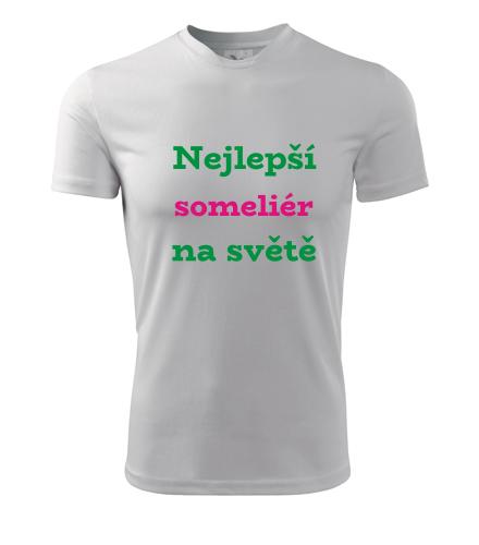 Tričko nejlepší someliér na světě - Dárky pro someliéry