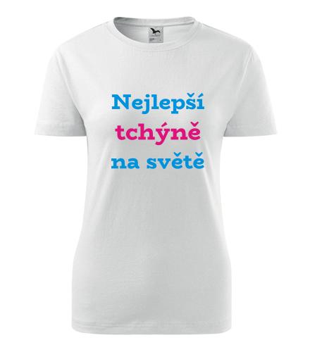 Tričko nejlepší tchýně na světě - Dárek pro ženu k 55