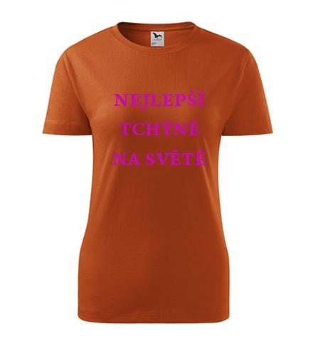 Vtipné dárky pro ženy k narozeninám Tričko nejlepší tchýně na světě oranžová