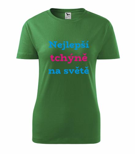 Dárky pro ženy k narozeninám Tričko nejlepší tchýně na světě střední zelená