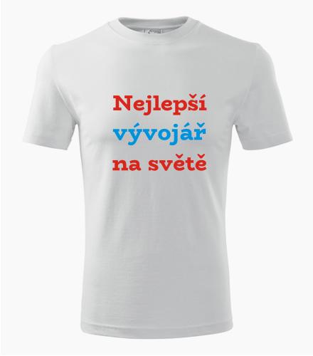 Tričko nejlepší vývojář na světě - Dárek pro vývojáře