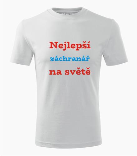 Tričko nejlepší záchranář na světě - Dárek pro záchranáře