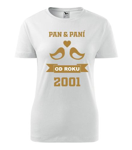 Dámské tričko k výročí svatby - holubičky zlaté - Dárek k výročí svatby