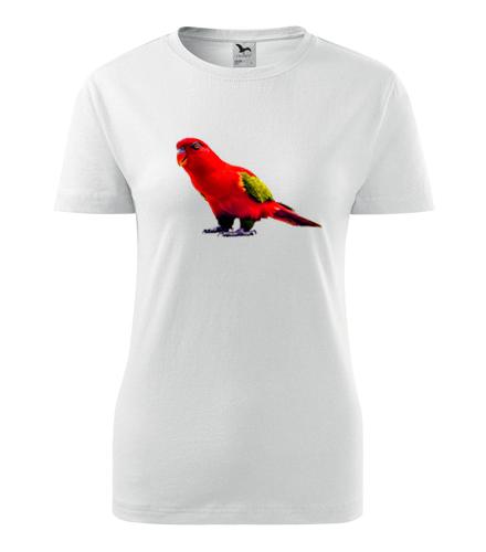 Dámské tričko s papouškem 1 - Trička se zvířaty dámská