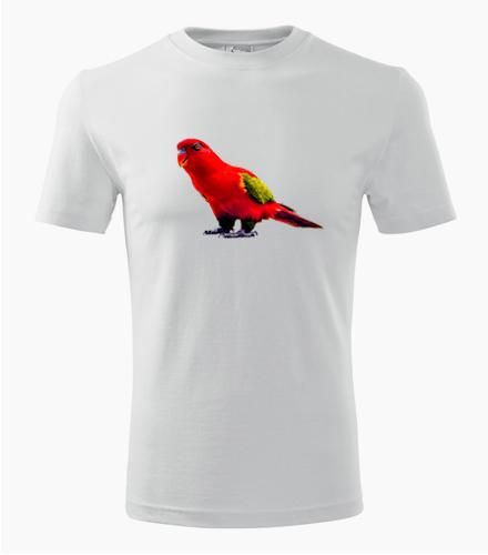 Tričko s papouškem 1 - Dárek pro chovatele ptactva