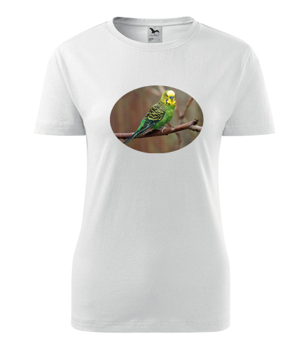 Dámské tričko s papouškem 3 - Trička se zvířaty dámská