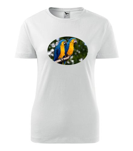 Dámské tričko s papouškem 5 - Trička se zvířaty dámská