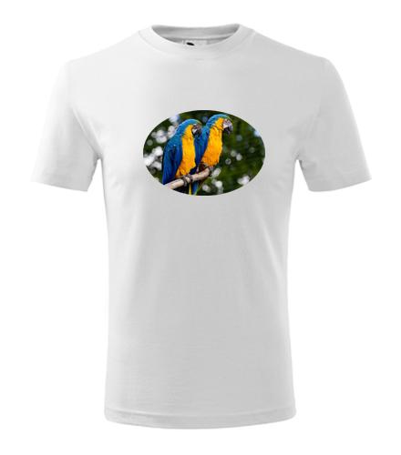 Dětské tričko s papouškem 5 - Trička se zvířaty dětská